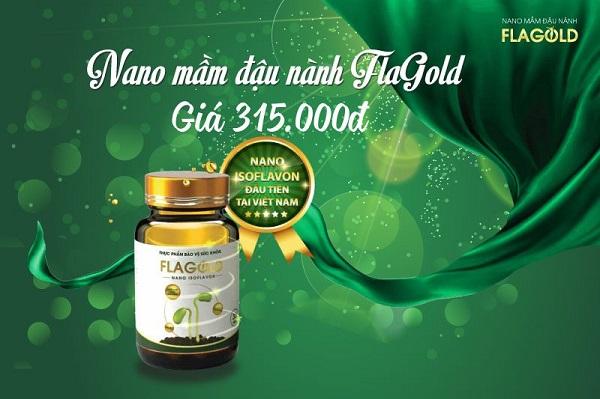 Nano mầm đậu nành Flagold có giá 315.000 VNĐ cho 1 hộp/30 viên nang