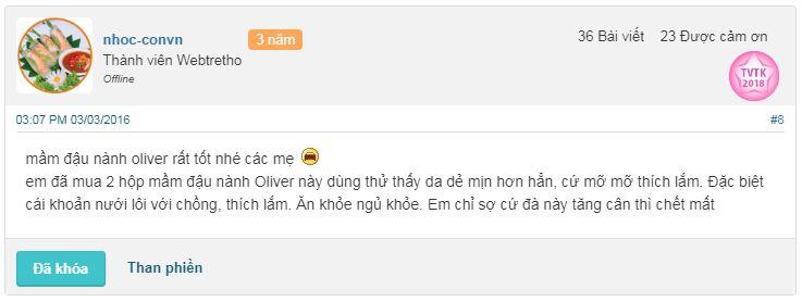 Review mầm đậu nành Oliver có tốt không?