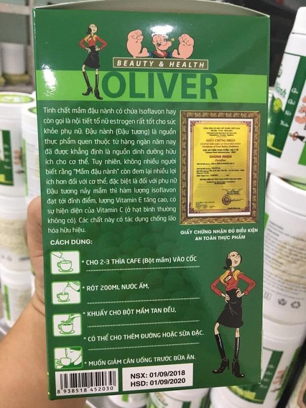 Cách uống mầm đậu nành oliver giúp tăng cân, giảm cân, hiệu quả nhất