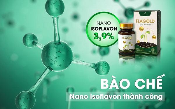 Chất Nano Isoflavon trong mầm đậu nành FlaGold là gì?