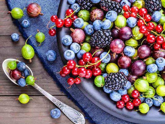 Quả mọng là thực phẩm nổ sung nội tiết tố cung cấp lượng lớn dưỡng chất thiết yếu cho cơ thể