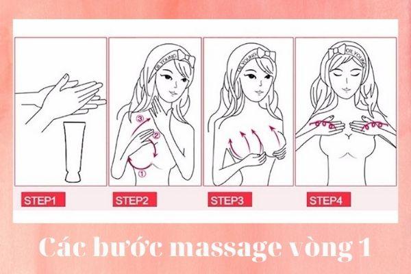 Massage ngực là phương pháp hỗ trợ tăng vòng 1 không phẫu thuật
