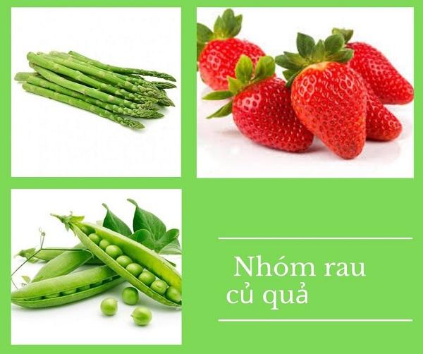 Nhóm rau củ quả chứa nhiều vitamin