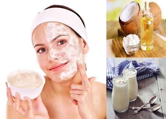 Ngoài đắp ngực, chị em có thể sử dụng hỗn hợp trứng gà, dầu dừa, sữa chua làm đẹp da mặt hiệu quả
