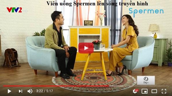 Chia sẻ của diễn viên Trọng Hùng về sản phẩm Spermen trong chương trình đẹp 24/7 trên VTV2