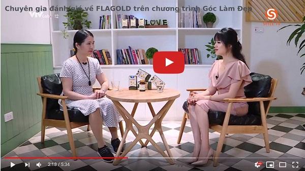 Chuyên gia chia sẻ về sản phẩm Flagold trên chương trình Góc Làm Đẹp