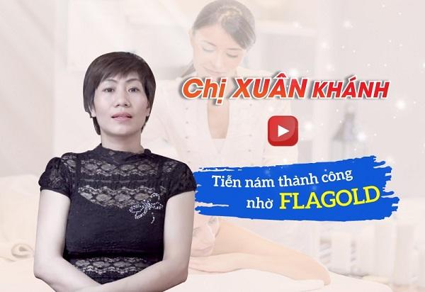 Chị Xuân Khánh chia sẻ về hiệu quả sử dụng sản phẩm Flagold