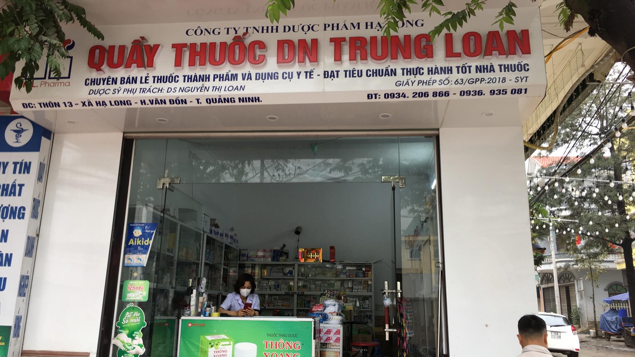 Công ty TNHH Dược phẩm Hạ Long - Quầy thuốc DN Trung Loan