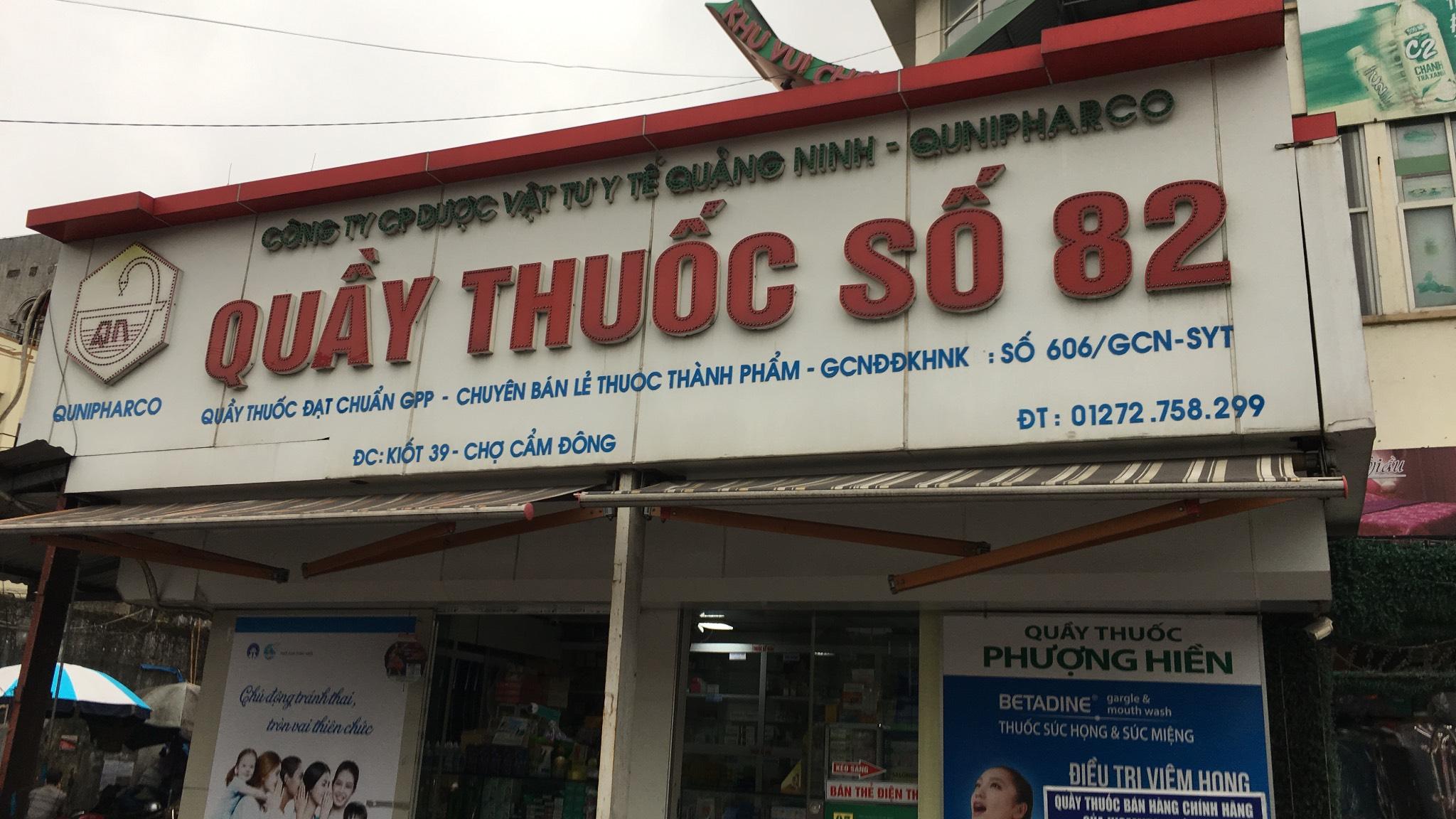 Công ty Cổ phần Dược vật tư Y tế Quảng Ninh - Quầy thuốc số 82