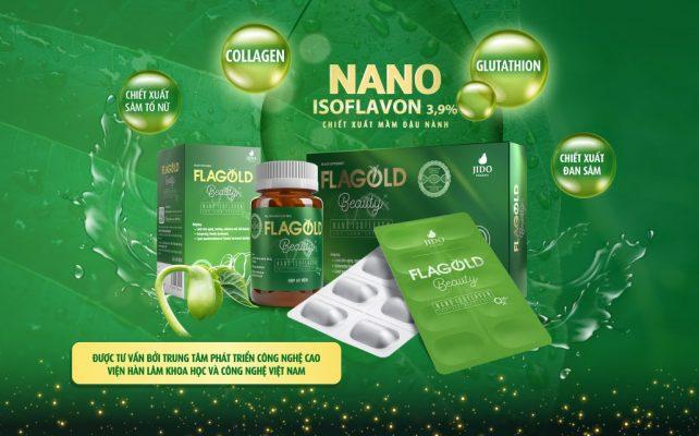 Nano mầm đậu nành Flagold Beauty được đóng gói theo 2 dạng: dạng hộp và dạng lọ