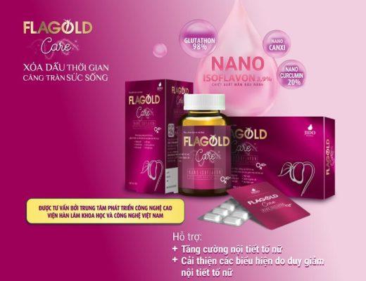 Nano mầm đậu nành Flagold Care dạng hộp 2 vỉ (20 viên)