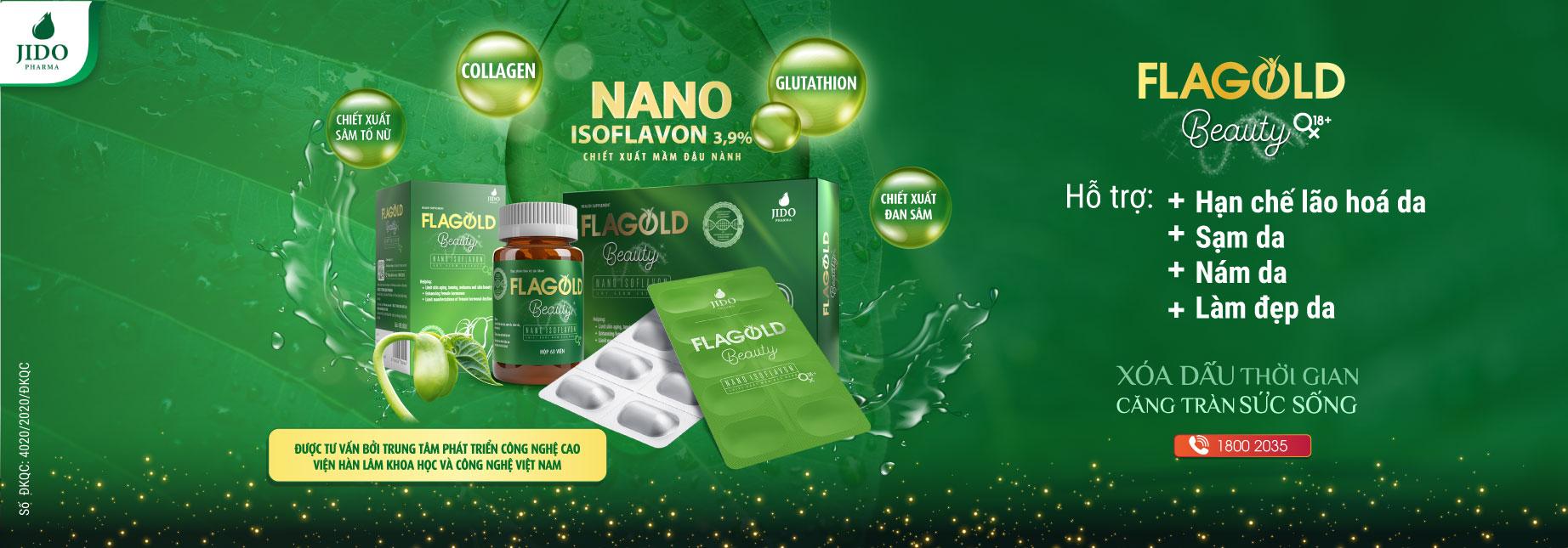 Nano Mầm Đậu Nành FlaGold Beauty