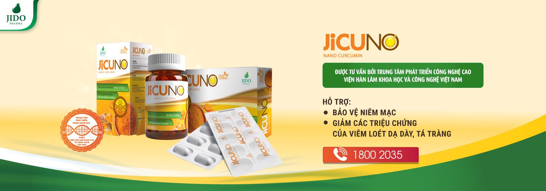 Viên uống hỗ trợ điều trị dạ dày, tá tràng JICUNO