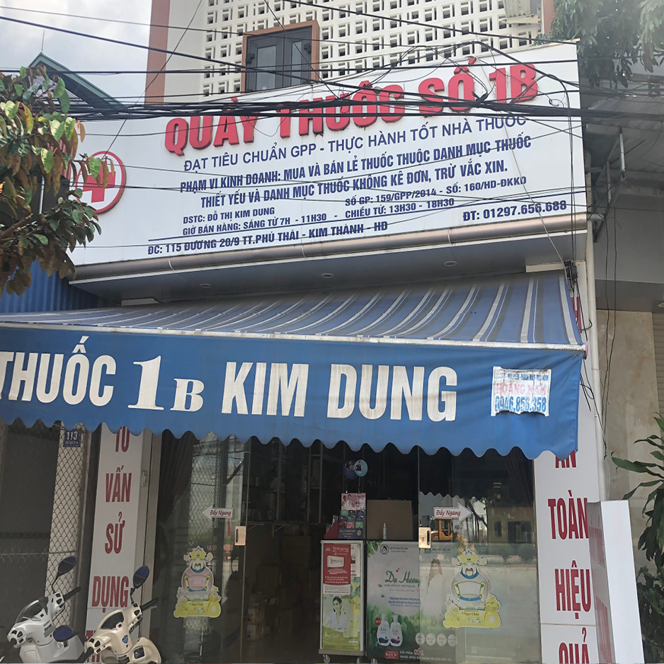 Quầy thuốc 1B Kim Dung