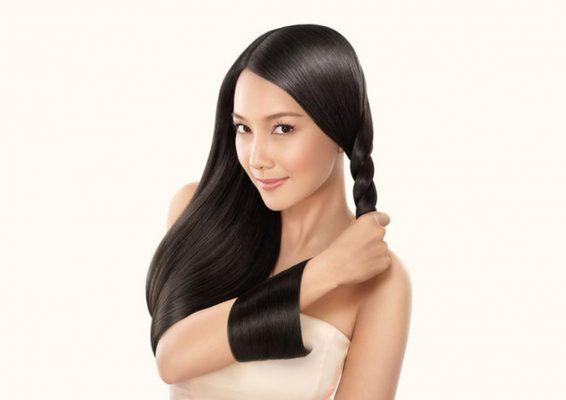 Tóc chắc khỏe, không bị khô gãy rụng khi nội tiết tố được cân bằng