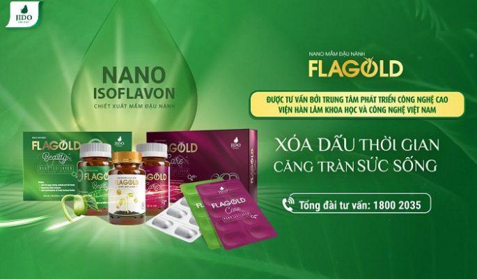 Nano mầm đậu nành Flagold hỗ trợ bổ sung nội tiết tố nữ hiệu quả