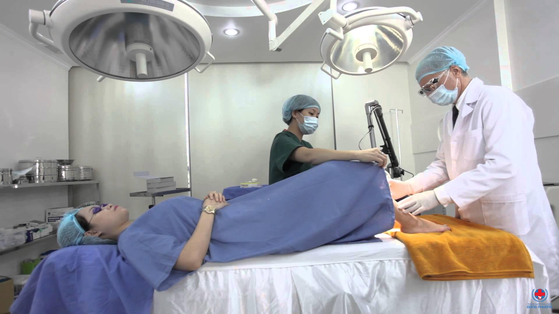 Đốt laser được áp dụng trong cấp độ 3 của bệnh