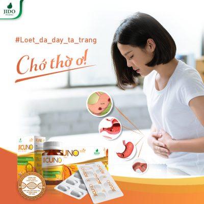 Jicuno là thực phẩm chức năng hỗ trợ điều trị viêm loét dạ dày, đau dạ dày