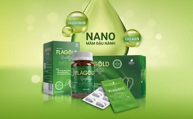 Viên uống Nano mầm đậu nành FlaGold Beauty đẹp da, cân bằng nội tiết