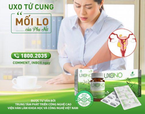 Uxono làm giảm lỗi lo u xơ tử cung ở phụ nữ