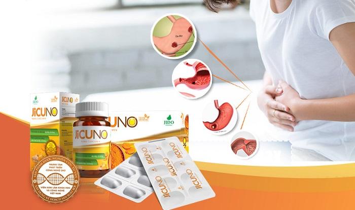 Jicuno chứa 100% nano Curcumin hỗ trợ điều trị đau dạ dày hiệu quả, an toàn